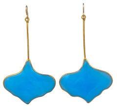 MWLC Poured Glass Gingko Earrings