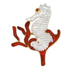 MWLC Seahorse Brooch