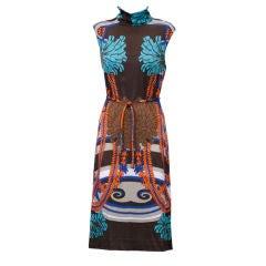 Colin Glascoe 1960's print dress