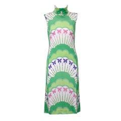 Colin Glascoe Green Print 1960's dress