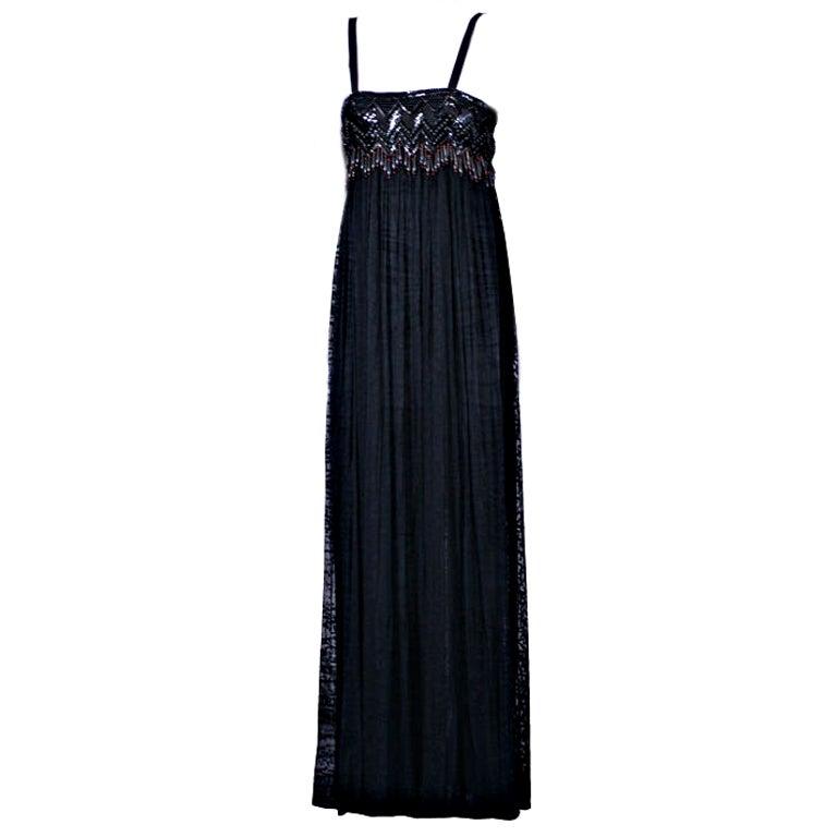 Yves Saint Laurent Beaded African Dress