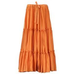 M.P.Tattarachi Strapless Pleated Cotton Jersey dress/skirt