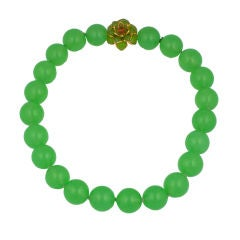 MWLC Lime Zinnia Necklace