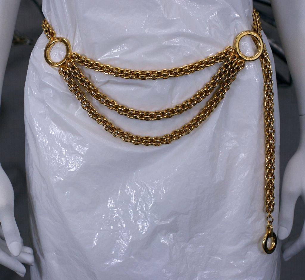 Women's Paloma Picasso Gilt Chain Tier Belt For Sale