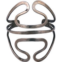 Ed Levin Modernist Sterling Cuff