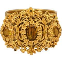 Calvaire Faux Citrine and Gilt Bracelet