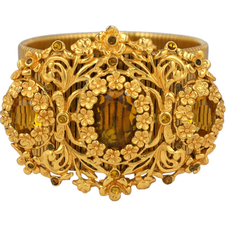 Calvaire Faux Citrine and Gilt Bracelet 1