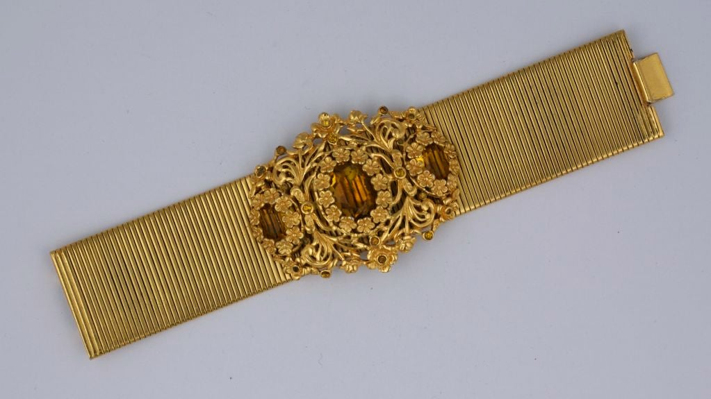 Calvaire Faux Citrine and Gilt Bracelet 2