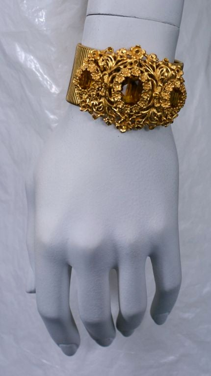 Calvaire Faux Citrine and Gilt Bracelet 4