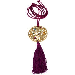 Yves Saint Laurent Jewelled Tassel Necklace