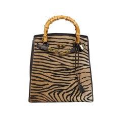 Revillion Stenciled Fur Handbag