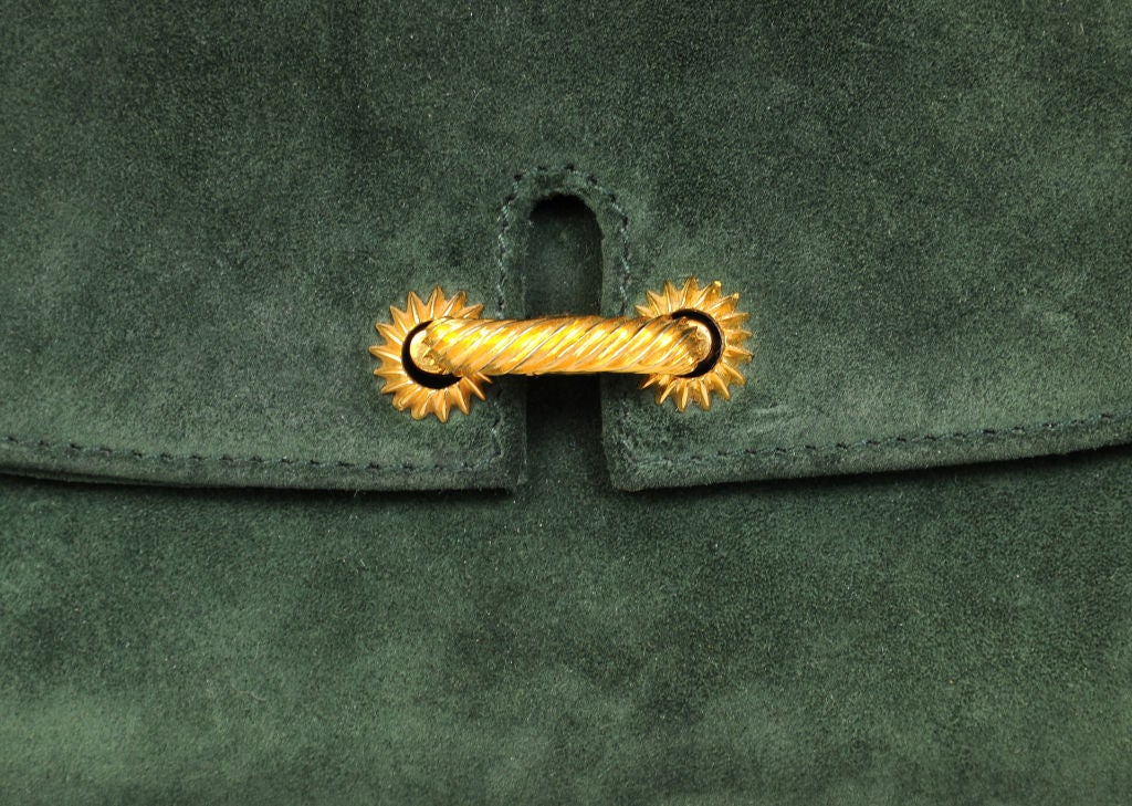 Gucci Green Suede Clutch image 2