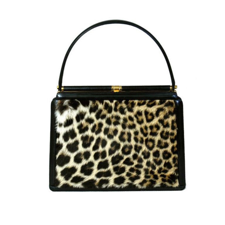 "Leather & ""Leopard"" Bag 1"
