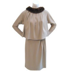 Schubert Tan Dress and Cape