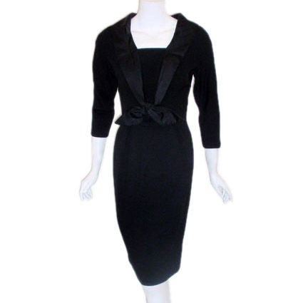 Don Loper 1950's Day-to-Evening Black Cocktail Dress, Winona Ryder Size 2-4