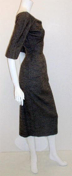 Charles James for Samuel Winston, gray mohair cocktail dress 4