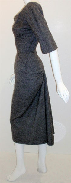 Charles James for Samuel Winston, gray mohair cocktail dress 3