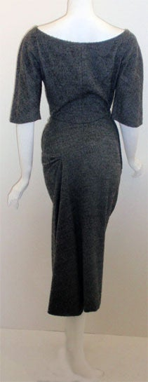 Charles James for Samuel Winston, gray mohair cocktail dress 5