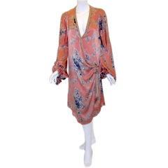 WORTH  silk  cocktail dress