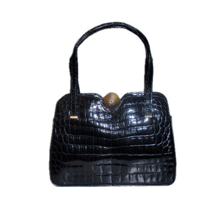 Pretty Crocodile handbag by Sacha, Paris