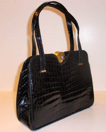 Pretty Crocodile handbag by Sacha, Paris image 3