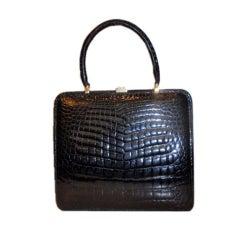 Holt Renfrew large Alligator Handbag