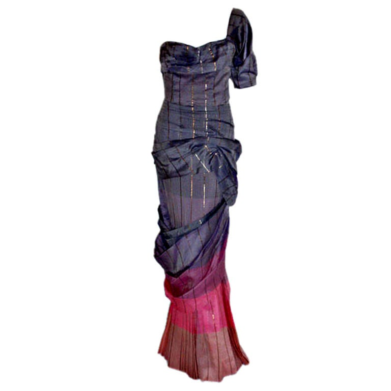 Adrian Original, One sleeved gown, Circa 1940s, Theodora Getty 1