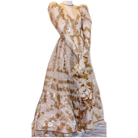 Yves saint laurent couture 39 wedding gown 39 circa 1980s at for Yves saint laurent wedding dress