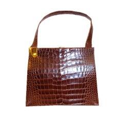 Koret Brown Alligator Handbag