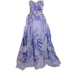 Adrian Original 'Peace Dove' Silk Gown, Theodora Getty