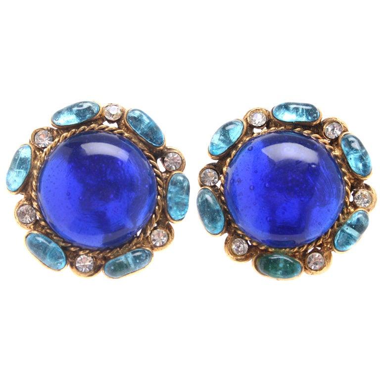 chanel earrings at 1stdibs