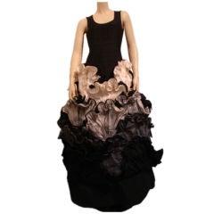 1980s Roberto Capucci Couture Sculpted Ballgown