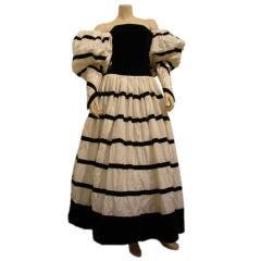 1980s Chanel Renaissance Ballgown