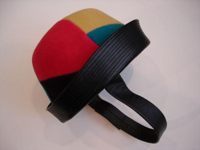 Women's 1960s Yves Saint Laurent Jockey Hat