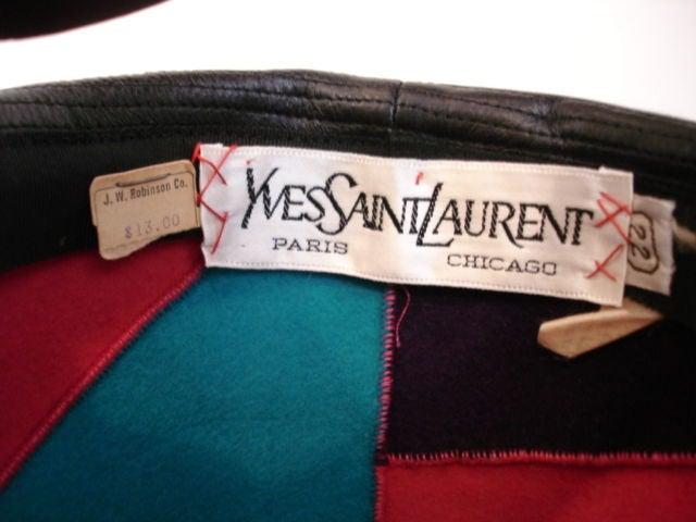 1960s Yves Saint Laurent Jockey Hat 2
