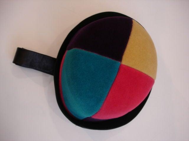 1960s Yves Saint Laurent Jockey Hat 1