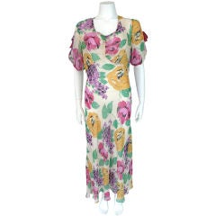 30's Floral Silk