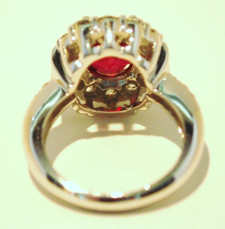 Burmese Ruby and Diamond Ring For Sale 3