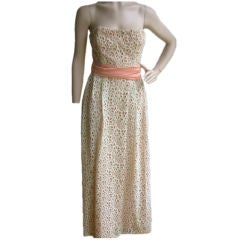 John Cavanagh Vintage Eyelet Couture Gown