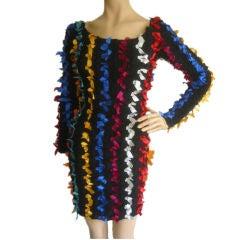 BETSEY JOHNSON Vintage Sexy Punk Label Ribbon Dress S