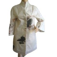 CHADO Ralph Rucci Cy Twombly Rain Coat Sz 6