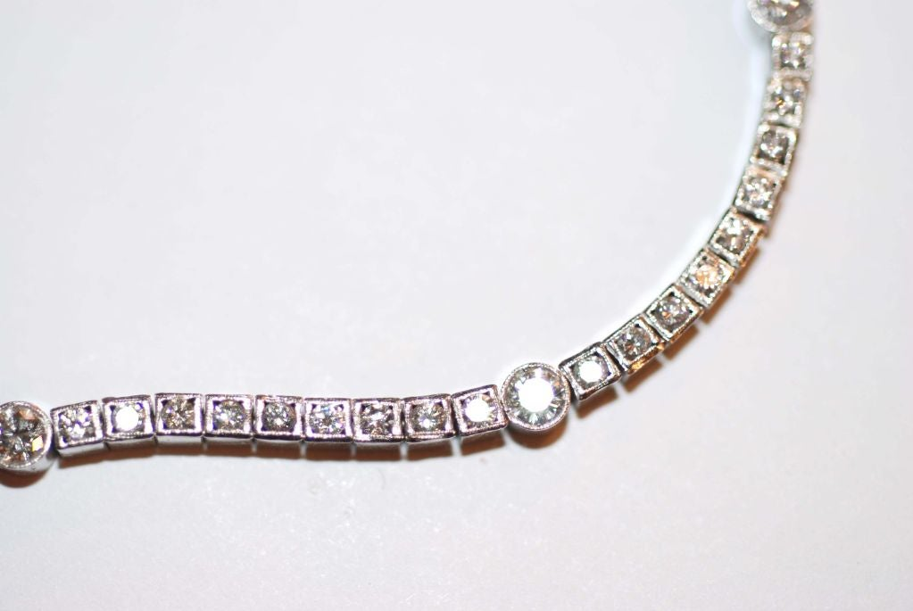 open bracelet vintage for diamond art deco