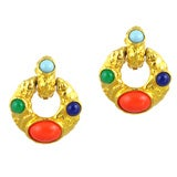 Kenneth Jay Lane Door-Knocker Earrings