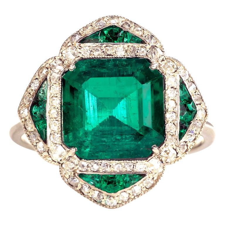 emerald ring at 1stdibs