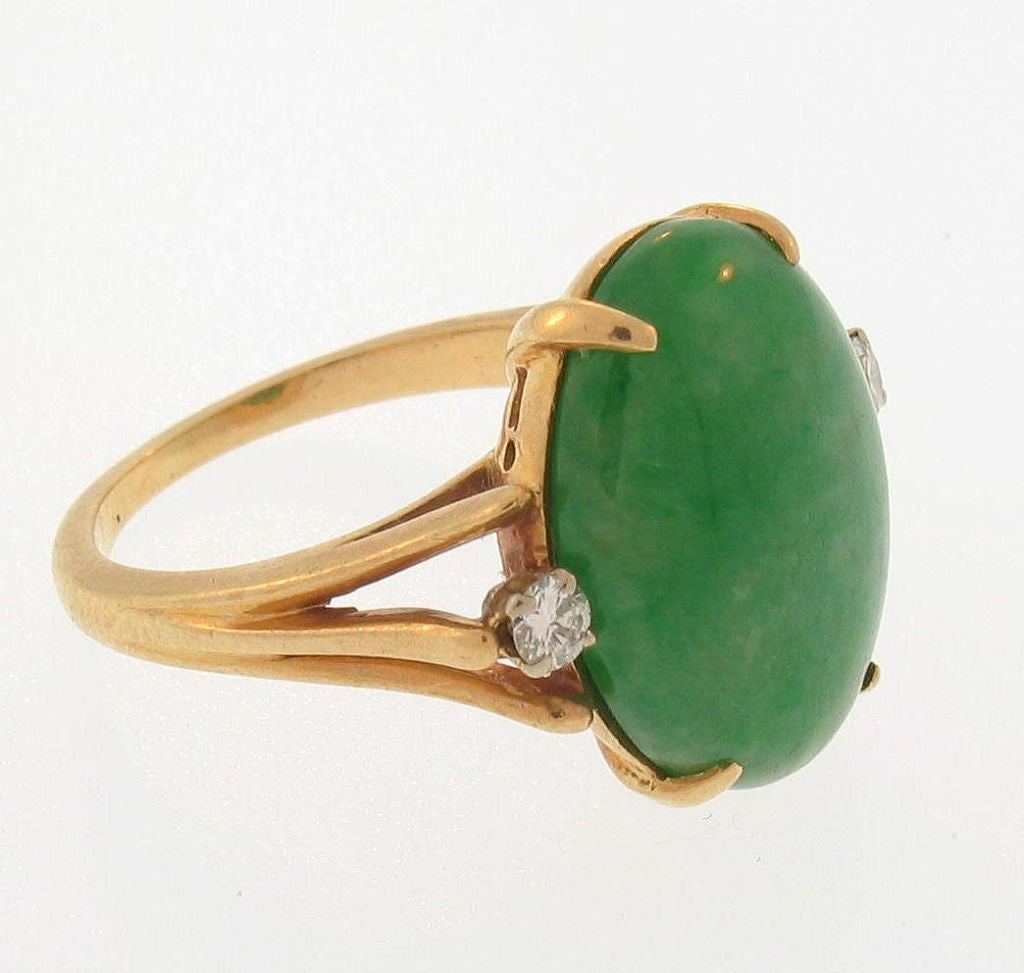 14k yellow gold jade and ring circa 1960 at 1stdibs