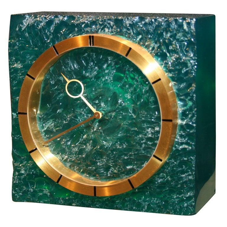 Rare Resin Jaeger Lecoultre Table Clock At 1stdibs