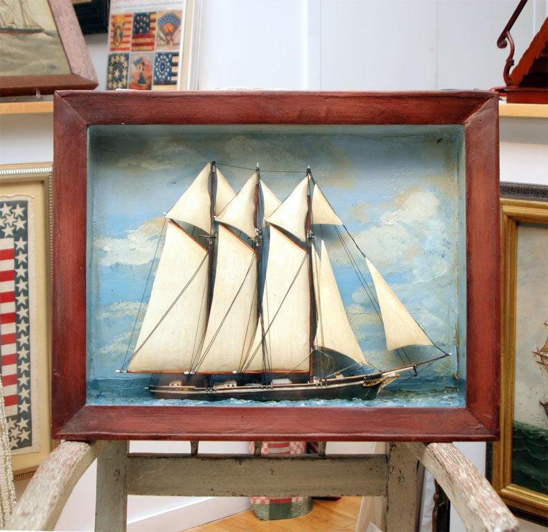 Sailing Ship Diorama At 1stdibs