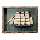 Sailing Ship Diorama in Carved Frame.