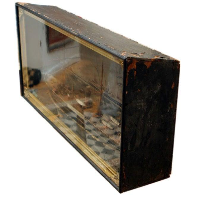 20th Century Ship Shadow Box Diorama For Sale