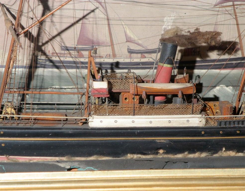 Ship Shadow Box Diorama For Sale 1